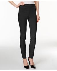 Style & Co. | Black Tummy-control Skinny Pants, Only At Macy's | Lyst