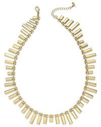 ABS By Allen Schwartz | Metallic Gold-tone Bar Collar Necklace | Lyst