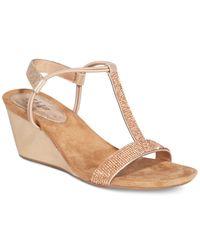 Style & Co.   Metallic Mulan 2 Platform Wedge Sandals   Lyst