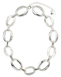 Anne Klein | Metallic Silver-tone All-around Collar Necklace | Lyst