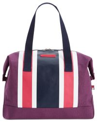 Tommy Hilfiger | Pink Th Stripes Printed Canvas Large Weekender | Lyst