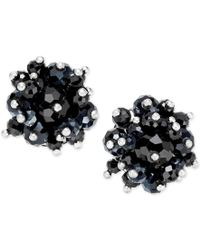 INC International Concepts | Black Silver-tone Jet Bead Clip-on Earrings | Lyst