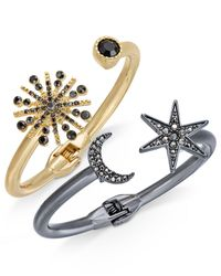 INC International Concepts - Metallic 2-pc. Set Astronomical Pavé Crystal Hinged Bracelets - Lyst