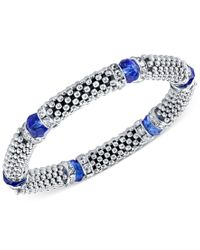 2028 | Silver-tone Stone And Crystal Metallic Beaded Stretch Bracelet, A Macy's Exclusive Style | Lyst