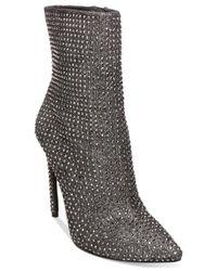 Steve Madden Black Women's Wifey Embellished Booties