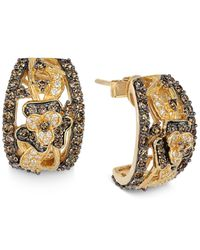 Le Vian | Yellow Chocolate Diamond And White Diamond Earrings (1-3/4 Ct. T.w.) In 14k Gold | Lyst