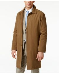 London Fog - Natural Coat Durham Raincoat for Men - Lyst