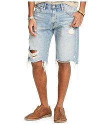 Denim & Supply Ralph Lauren | Blue Men's Straight-fit Ripped Shorts for Men | Lyst