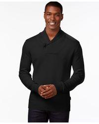 Sean John | Black Men's Toggle Shawl-collar Sweater for Men | Lyst