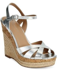Charles by Charles David - Green Astro Wedge Sandals - Lyst
