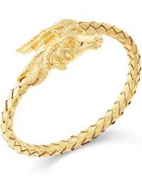 Macy's | Metallic Woven Horse Bangle Bracelet In 14k Gold Vermeil | Lyst