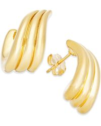 Macy's | Metallic Twisted Half-hoop Earrings In 14k Gold | Lyst