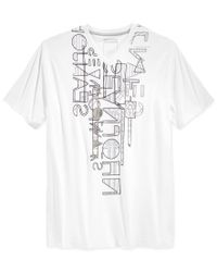 Sean John | White Men's Linear Reduction T-shirt for Men | Lyst
