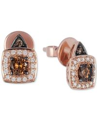 Le Vian | Brown Chocolate And White Diamond Earrings (5/8 Ct. T.w.) In 14k Rose Gold | Lyst
