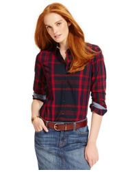 Tommy Hilfiger | Blue Plaid Button-down Shirt, Only At Macy's | Lyst