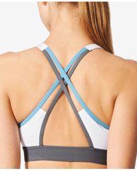 Adidas - White Climalite® Medium-support Halter Sports Bra - Lyst