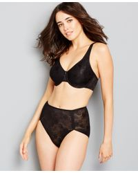 Wacoal | Black Clear And Classic Underwire Bra 855244 | Lyst