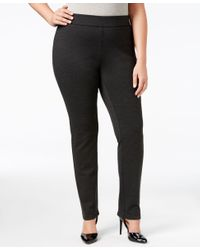 INC International Concepts | Gray Plus Size Ponte Pull-on Skinny Pants, Only At Macy's | Lyst