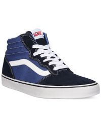 Vans | Blue Men's Milton Hi-top Sneakers for Men | Lyst