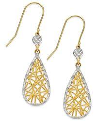 Macy's   Metallic Dreamcatcher Earrings In 10k Gold And White Rhodium   Lyst