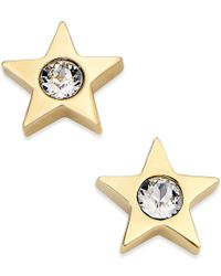 kate spade new york | Metallic Gold-tone Crystal Star Stud Earrings | Lyst
