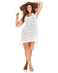 Gottex - White Plus Size Crochet-lace Cover-up Dress - Lyst