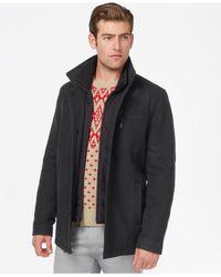 Kenneth Cole - Gray Wool-blend Barn Coat for Men - Lyst