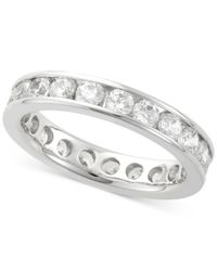 Macy's | Multicolor Diamond Channel Set Eternity Band (2 Ct. T.w.) In 14k White Gold | Lyst