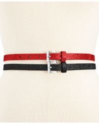 Style & Co. | Red 2 For 1 Glitter Belts, Only At Macy's | Lyst