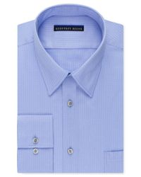Geoffrey Beene | Blue Men's Fitted Wrinkle Free Textured Sateen Dress Shirt for Men | Lyst