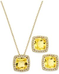City By City | Metallic November Birthstone Necklace & Earring Set | Lyst