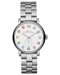 Marc By Marc Jacobs | Metallic Women's Baker Dexter Stainless Steel Bracelet Watch 36mm Mbm3420 | Lyst