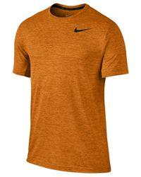 Nike - Orange Men's Dri-fit Touch Ultra-soft T-shirt for Men - Lyst