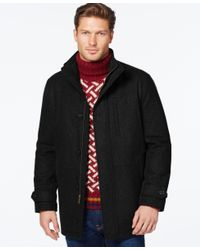 London Fog | Black Wool-blend Car Coat for Men | Lyst