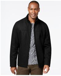 Perry Ellis   Black Wool-blend Zip-front Jacket for Men   Lyst