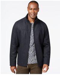 Perry Ellis | Gray Wool-blend Zip-front Jacket for Men | Lyst