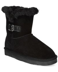 Style & Co. | Black Tiny 2 Cold Weather Booties, Only At Macy's | Lyst