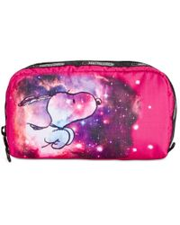 LeSportsac   Pink Peanuts Collection Rectangular Cosmetics Case   Lyst