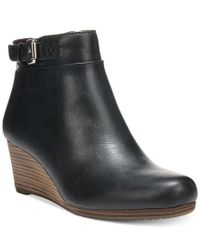 Dr. Scholls | Black Daina Wedge Booties | Lyst