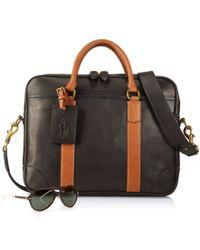 Polo Ralph Lauren | Black Leather Commuter Bag for Men | Lyst