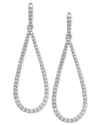 Arabella - Metallic Swarovski Zirconia Drop Earrings In Sterling Silver - Lyst