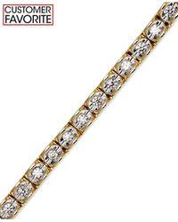 Macy's - Metallic Diamond Bracelet (1 Ct. T.w.) In 14k Gold - Lyst