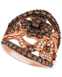 Le Vian | Brown Diamond Flower Ring (1-3/4 Ct. T.w.) In 14k Rose Gold | Lyst