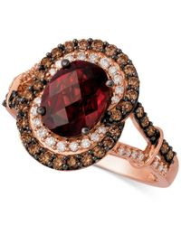 Le Vian | Multicolor Rhodolite Garnet (2-1/3 Ct. T.w.) And Diamond (3/8 Ct. T.w.) Ring In 14k Rose Gold | Lyst