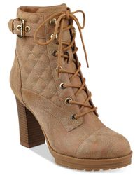 G by Guess | Brown Gram Boots | Lyst