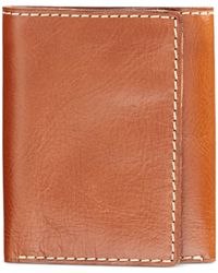 Patricia Nash - Brown Men's Heritage Leather Trifold Wallet - Lyst