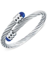 Charriol | Metallic Silver-tone Lapis Lazuli Cable Bangle Bracelet | Lyst