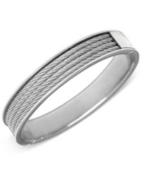 Charriol | Metallic Unisex Silver-tone Cable Bangle Bracelet | Lyst