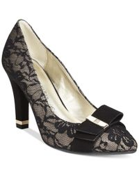 Anne Klein | Black Thrya Pumps | Lyst