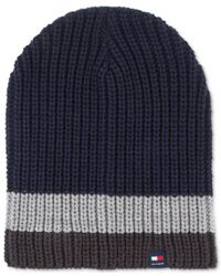 Tommy Hilfiger - Blue Patriot Slouchy Beanie for Men - Lyst